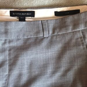 Grey work ankle trousers